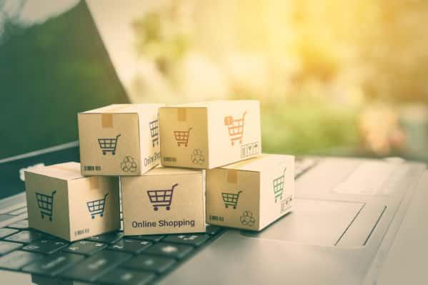 Ecommerce web development stock photo of mini boxes