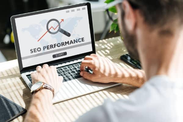 Scottish SEO consultant checking performance
