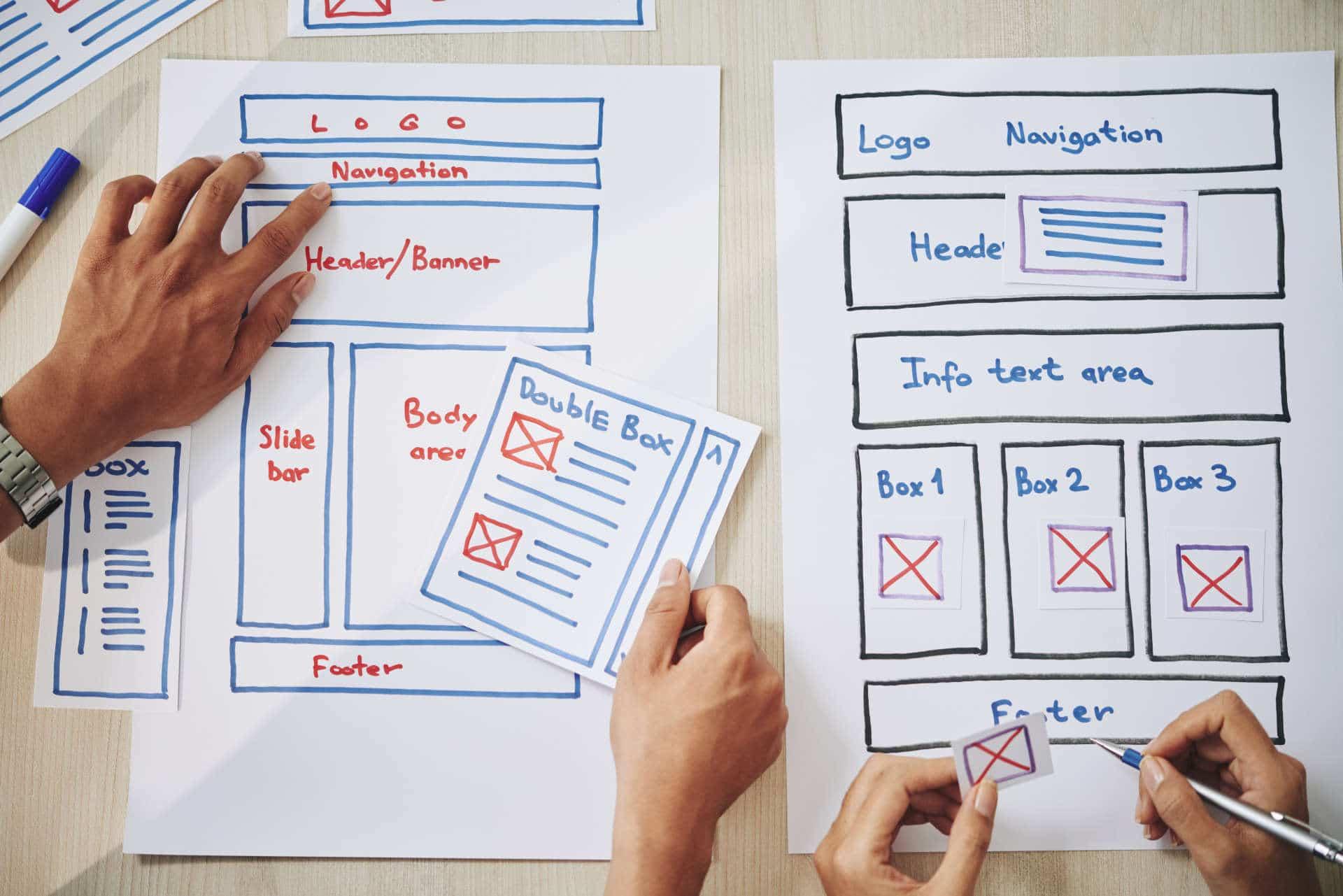 Stirling web design company creating website mockup